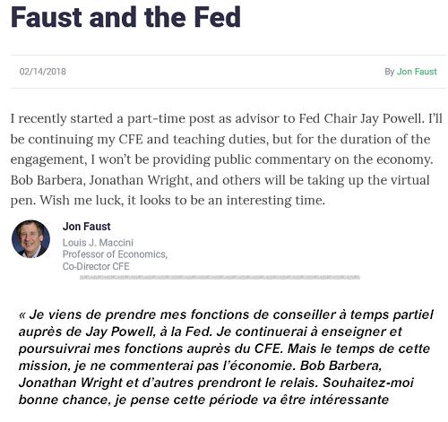 Faust et la Fed