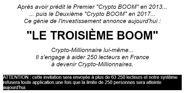 Le troisième boom des cryptomonnaies approche !