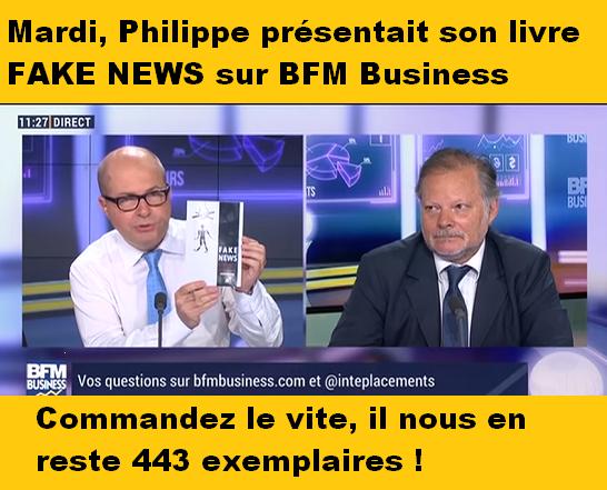 Philippe a présenté son livre sur BFM Business