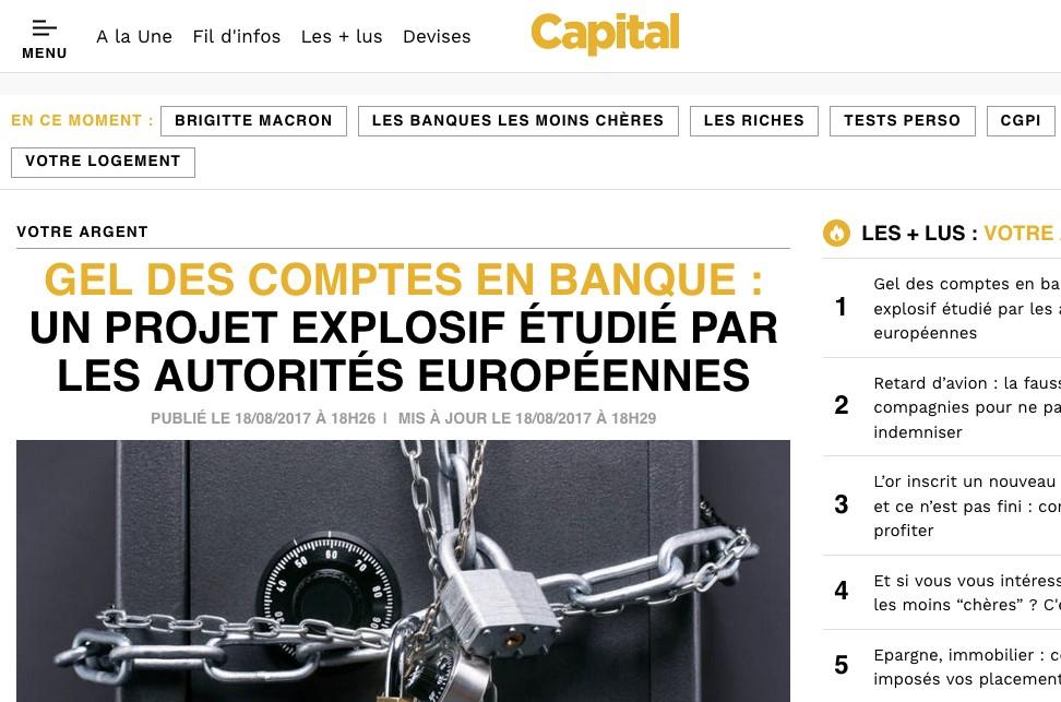 Gel des comptes en banques gel bancaire crise