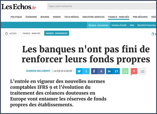 Les Echos fonds propres des banques régulateurs