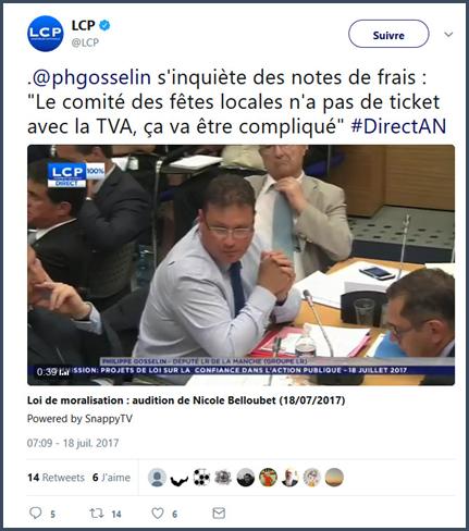 Gosselin indemnités parlementaires député