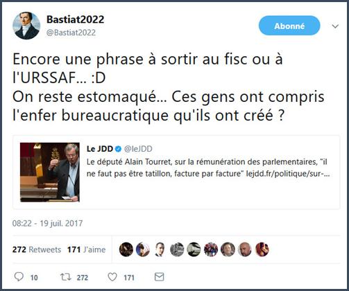 déclarations tenues à l'occasion de la suppression des indemnités représentatives Bastiat tweet