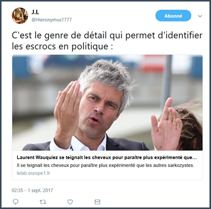 déclarations tweets Waulquiez Huygues, Filoche... député indemnités parlementaires