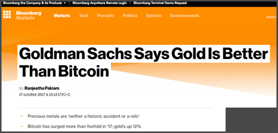 Bloomberg or bitcoin gold monnaie