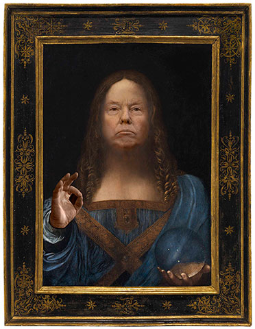 Donald Trump en Salvator Mundi, de Léonard de Vinci