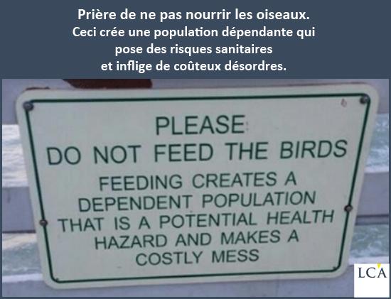 ne ps nourrir les pigeons ! projet de loi finance 2018