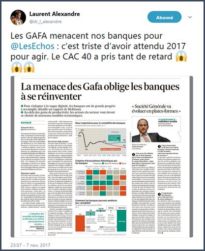 GAFA cac40 les echos tweet 2017