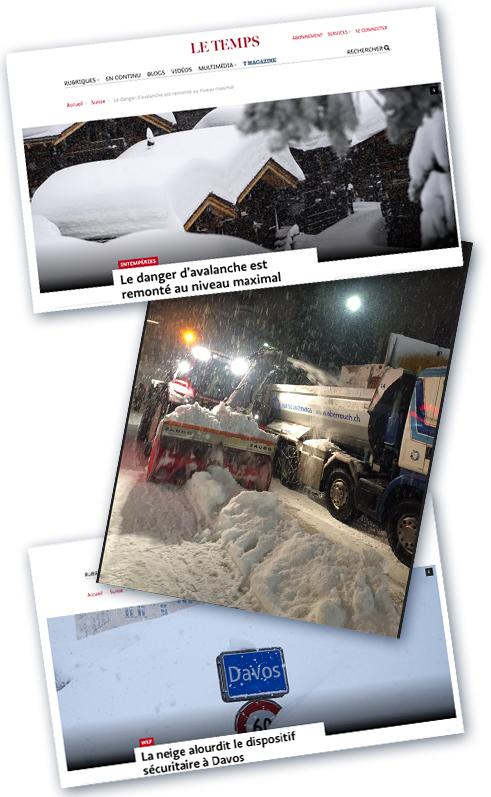 Davos sous la neige