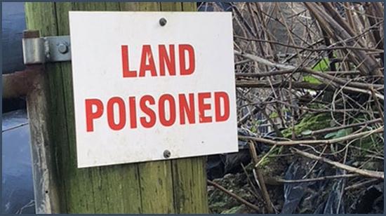 terrain empoisonné