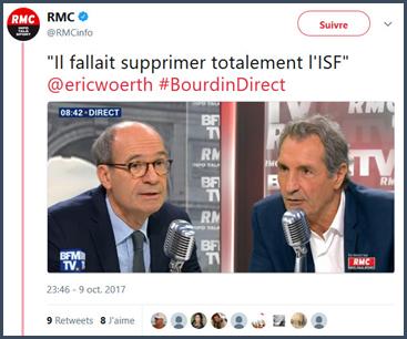Woerth isf politique fiscale chez Bourdin