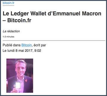 Ledger Wallet Macron