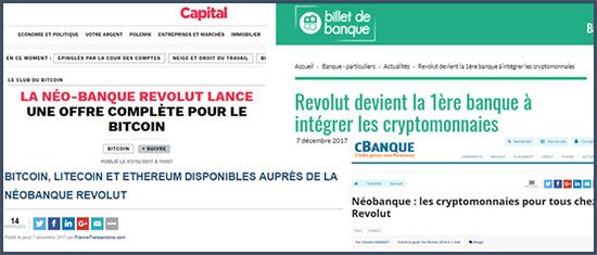 Revolut lance la neo-banque pour bitcoin cryptomonnaie litecoin ethereum