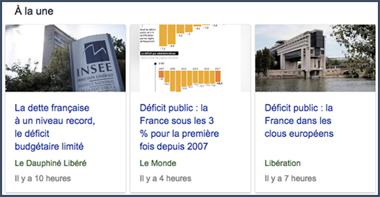 déficit public de la France