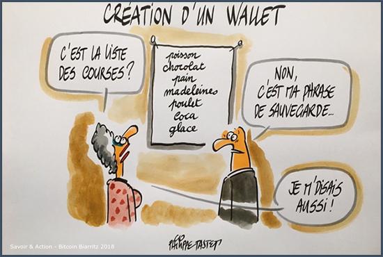 création d'un wallet
