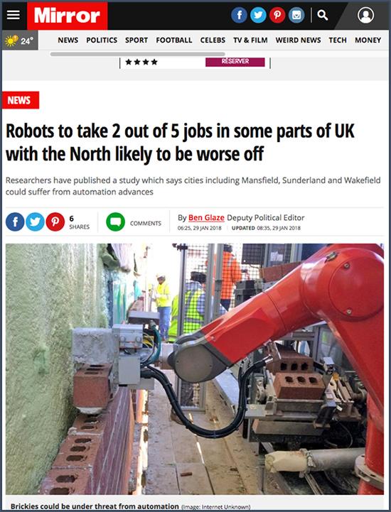 un robot maçon