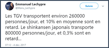 Gestion des trains en France vs au Japon