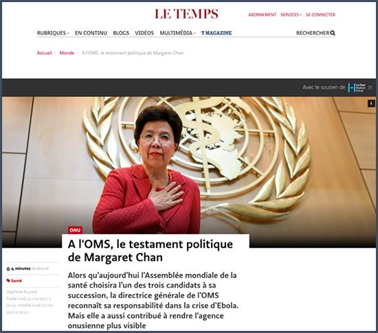 OMSn le testament politique de Margaret Chan