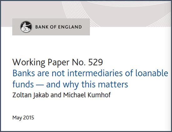 Les banques ne sont pas des intermédiaires de fonds prêtables et voici pourquoi c'est important