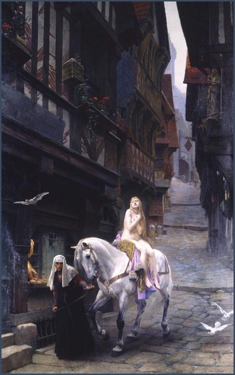 Lady Godiva, huile sur toile de Jules Lefebvre, 1890, musée de Picardie, Amiens.