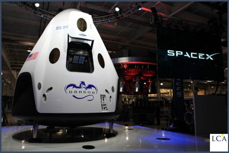 Le vaisseau Dragon de SpaceX aura la lourde responsabilité de renvoyer les Américains dans l'espace. Crédit: NASA