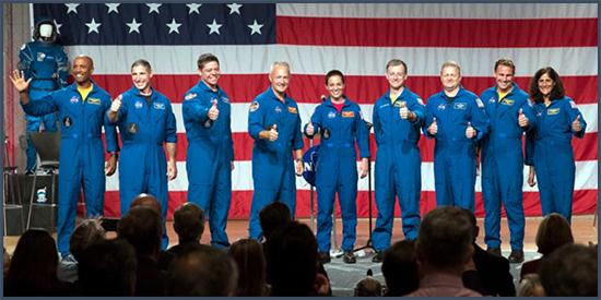 Les nouveaux pionniers de l'espace de la NASA. Crédit David J. Phillip/AP