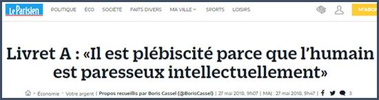 La paresse des français livret A
