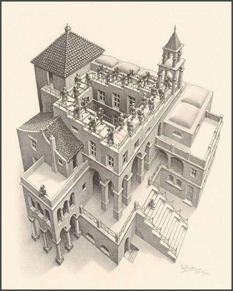 Maurits Escher - Montée et Descente
