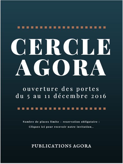 Invitation Personnelle Cercle Agora