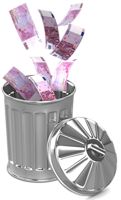 euros gaspillés