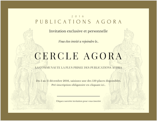 Le Cercle Agora - Invitation