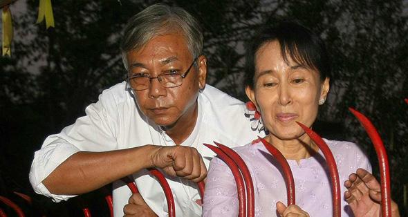 Htin Kyaw et Aung San Suu Kyi - Birmanie