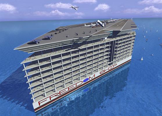Freedom Ship villes flottantes